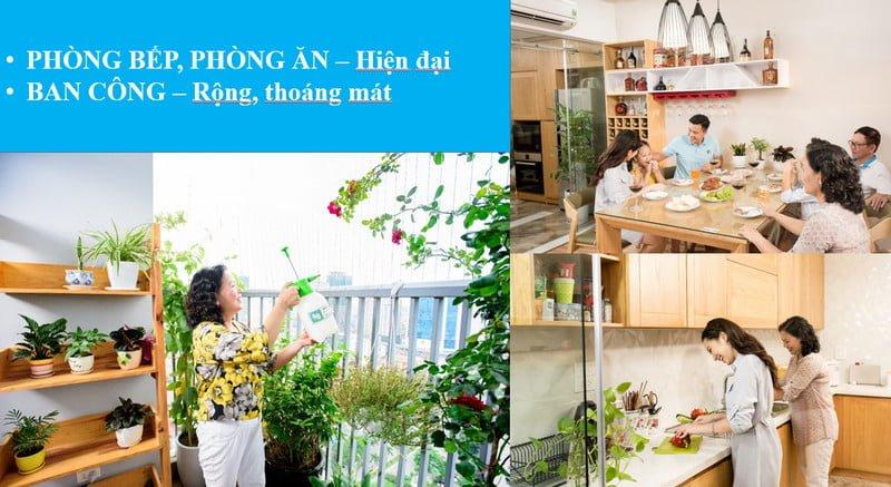 Không gian phòng bếp, phòng ăn