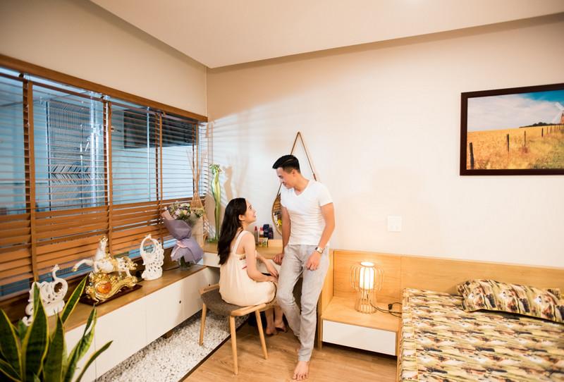 Không gian phòng ngủ rộng rãi và ấm cúng