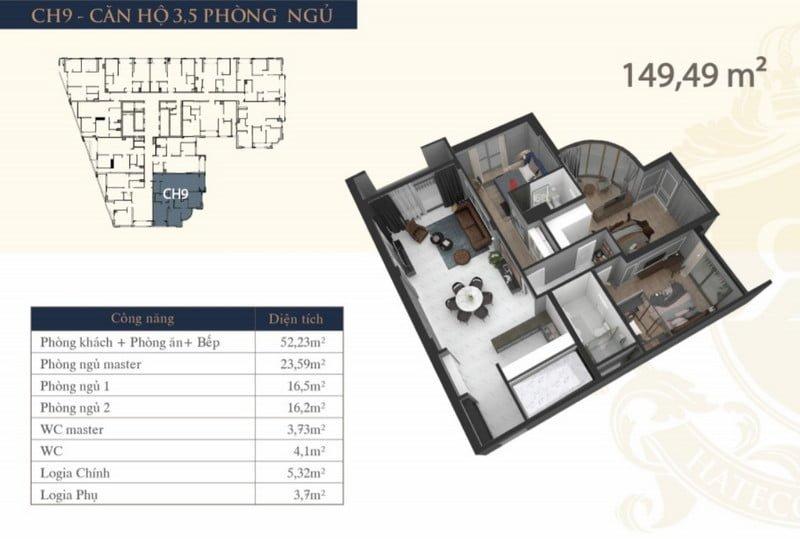 Thiết kế căn hộ 3,5PN