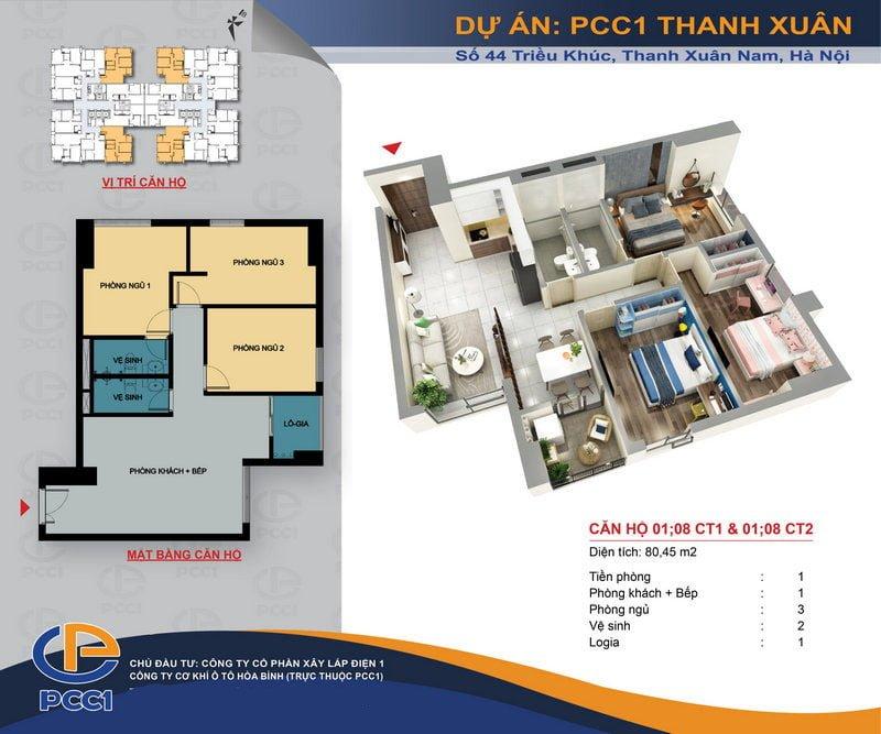 Thiết kế căn hộ 01 & 08