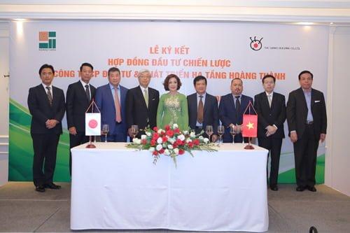 Hoàng Thành ký kết hợp đồng đầu tư chiến lược với Tập đoàn Sankei Building