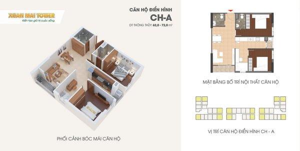 Thiết kế căn hộ hiện đại, trẻ trung
