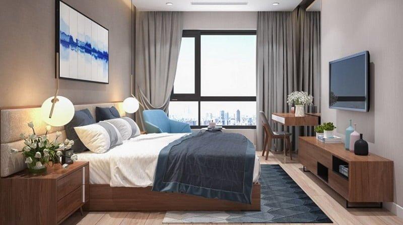 Phòng ngủ thoáng đãng và không gian hiện đại