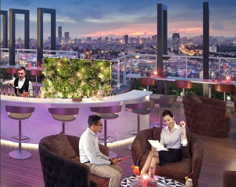 Sky Bar trên cao cho tầm view toàn thành phố