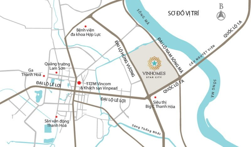 Vị trí vàng của Vinhomes Star City Thanh Hóa
