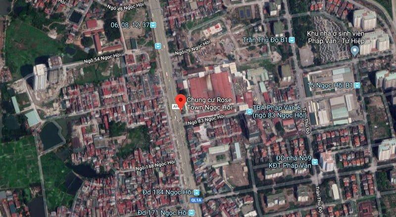 Vị trí trung tâm của dự án Rose Town