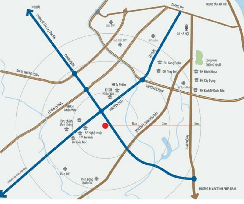Vị trí đắc địa của dự án Housinco Premium Nguyễn Xiển