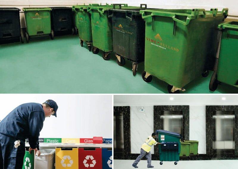 Hệ thống xử lý và thu gom rác hiện đại