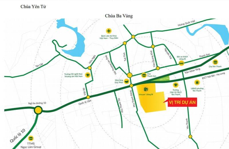 Vị trí vàng của Uông Bí New City