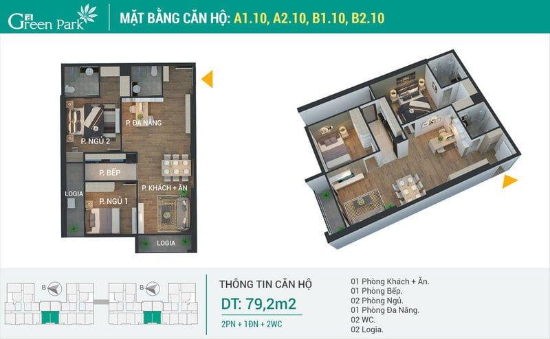 Thiết kế căn hộ 79,2m2