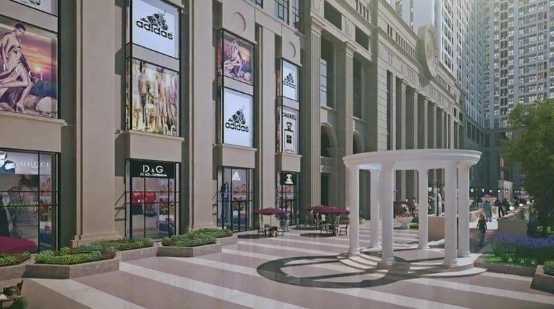 Khu trung tâm thương mại và siêu thị hiện đại