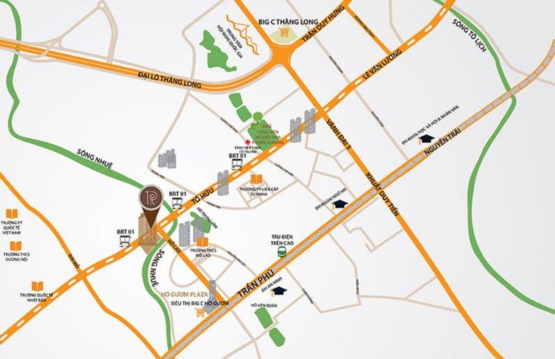 Vị trí đắc địa của Roman Plaza