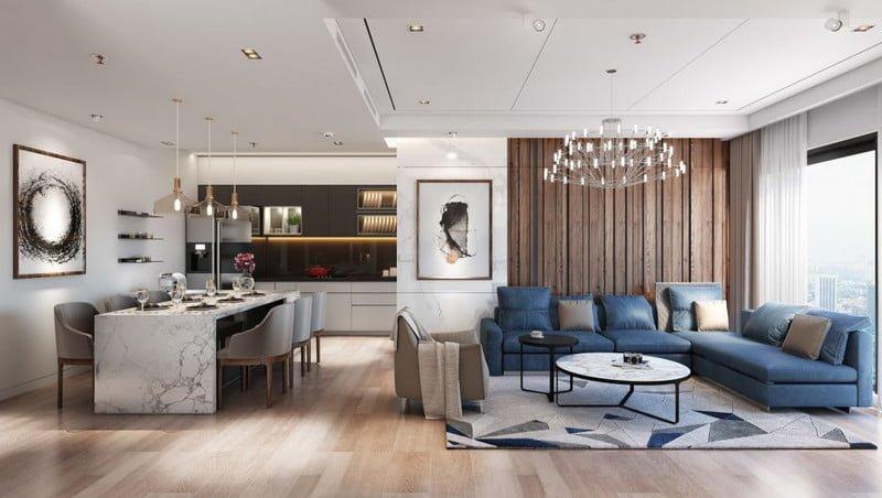 Thiết kế phòng khách hiện đại và tinh tế