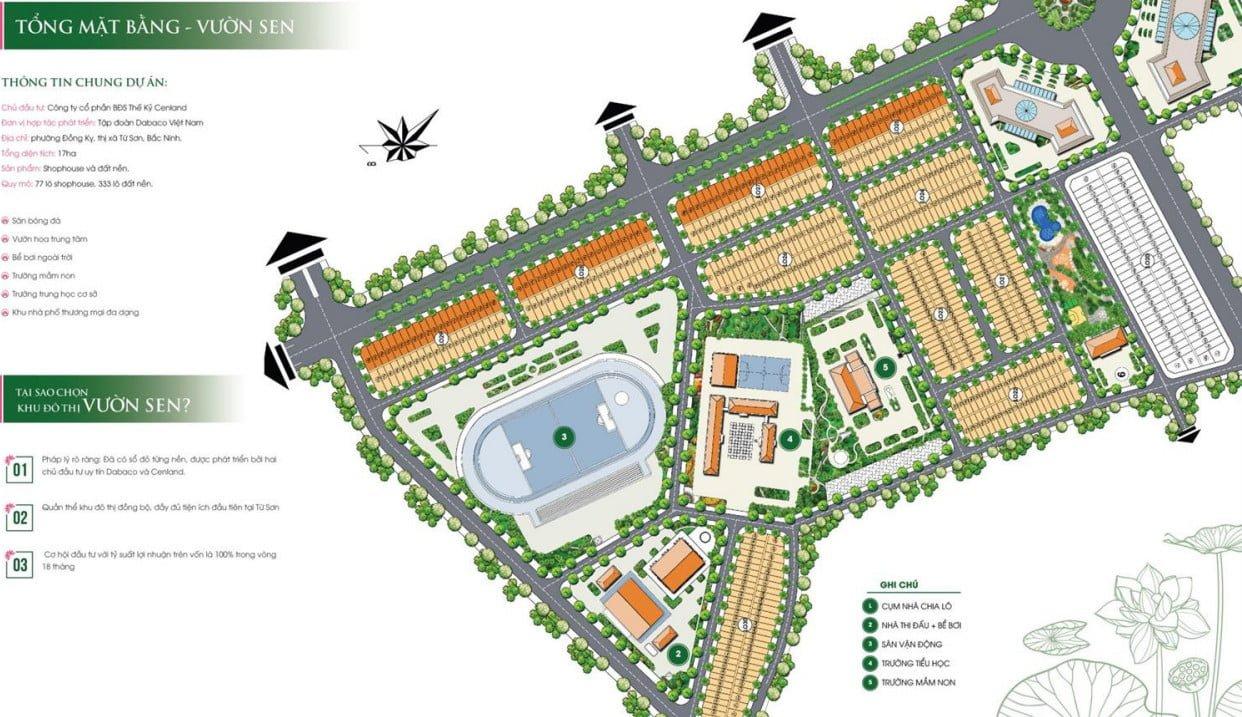 Tổng mặt bằng Lotus Garden Đồng Kỵ (click ảnh xem chi tiết hơn)