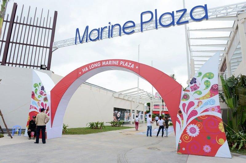 Trung tâm mua sắm và vui chơi giải trí Marine Plaza trong khu đô thị Hạ Long Marina