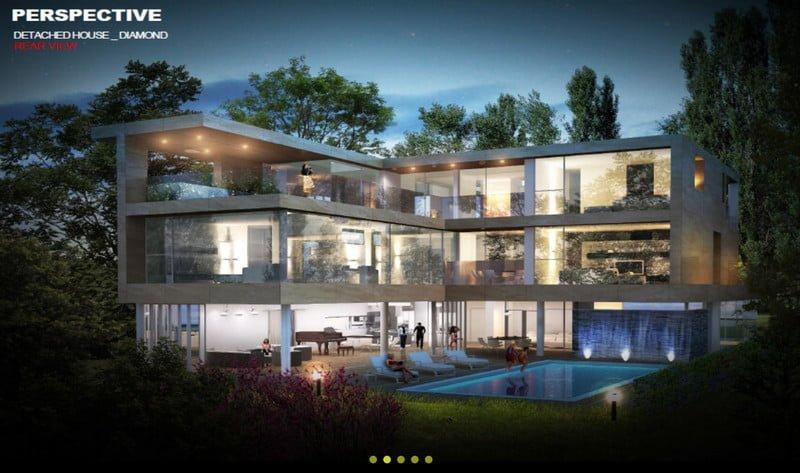 Detached - Villa Diamond, SL 01 căn, DT 640m2