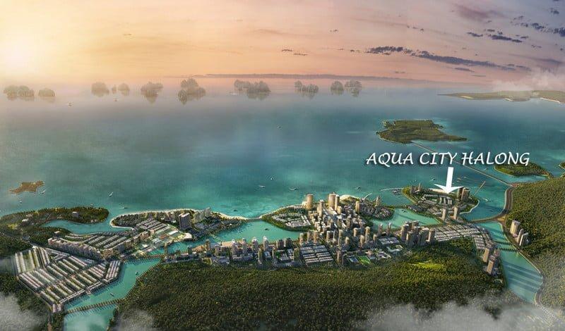 Vị trí Aqua City trong khu đô thị Hạ Long Marina