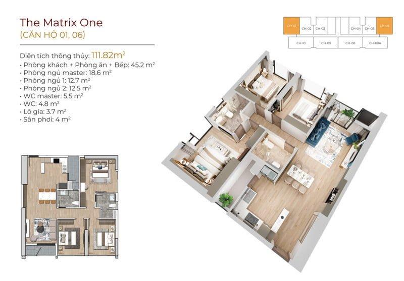 Thiết kế căn góc 01;06 The Matrix One