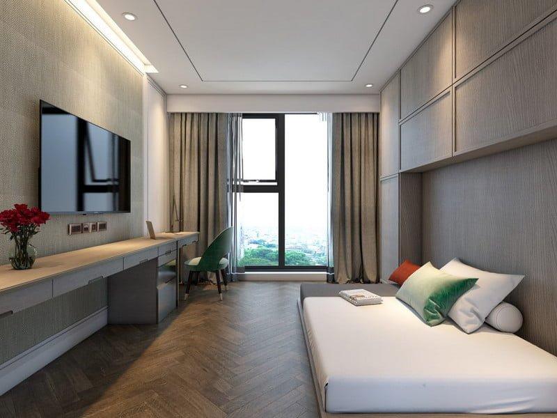 Mỗi căn hộ đều được trang bị kính tràn cho tầm view Panorama