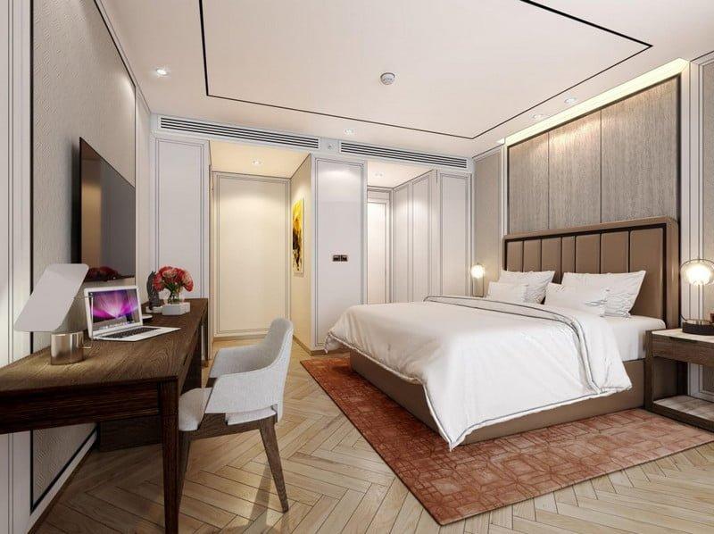 Phòng ngủ master với nội thất tân cổ điển sang trọng