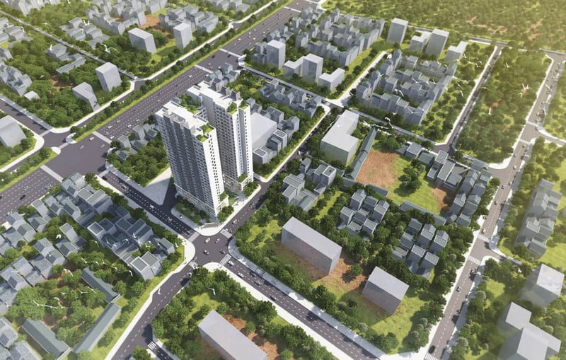Phối cảnh dự án Athena Complex Pháp Vân