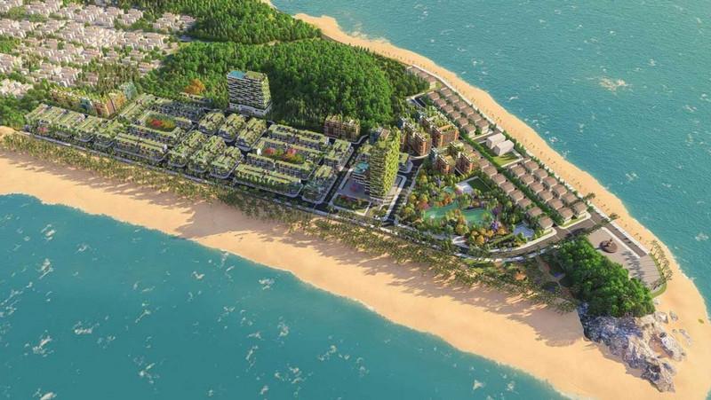 Phối cảnh quần thể Flamingo Hải Tiến Beach & Resort