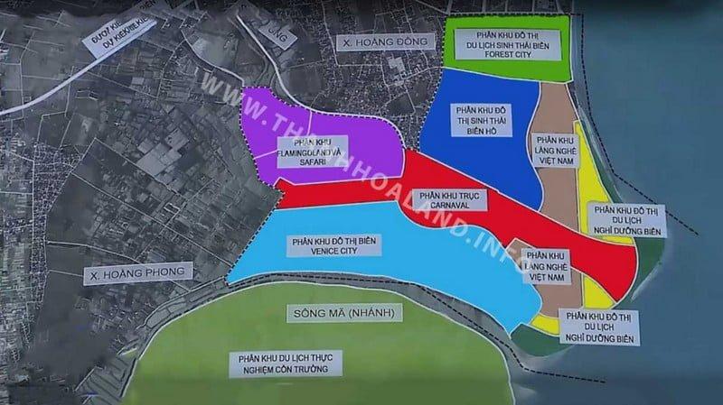 Các phân khu trong Flamingo Hải Tiến Beach & Resort