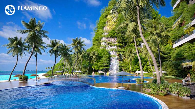 Bể bơi vô cực đẳng cấp thường thấy tại Flamingo Resort