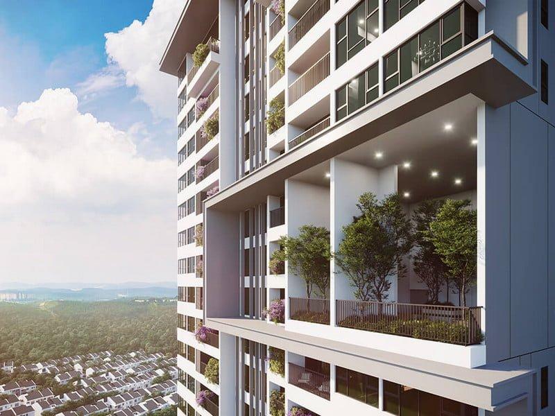 Góc view căn hộ Park City xuống khu biệt thự liền kề trong dự án