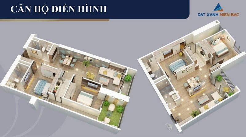 Thiết kế căn hộ điển hình BID Residence