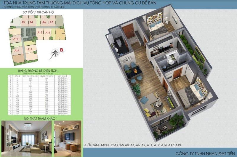Thiết kế căn hộ loại 1