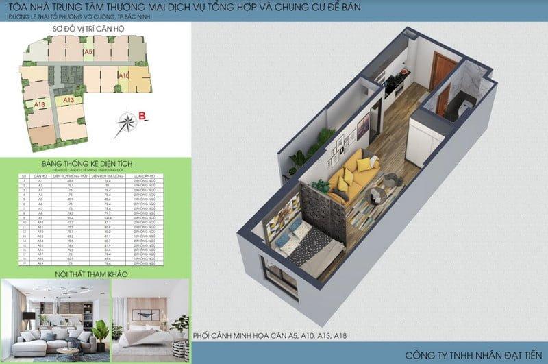 Thiết kế căn hộ loại 2