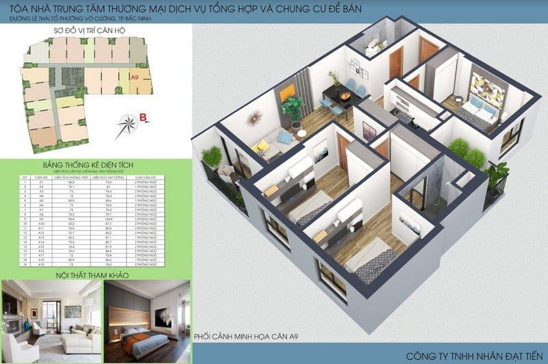 Thiết kế căn hộ loại 3