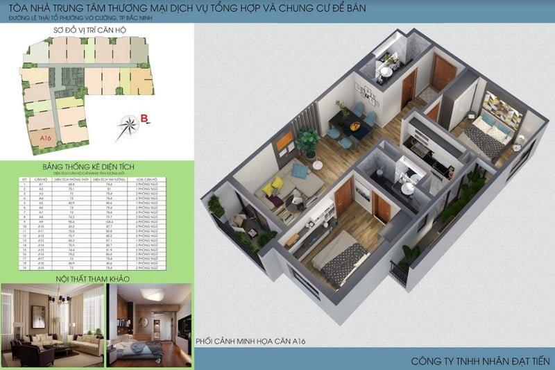 Thiết kế căn hộ loại 4