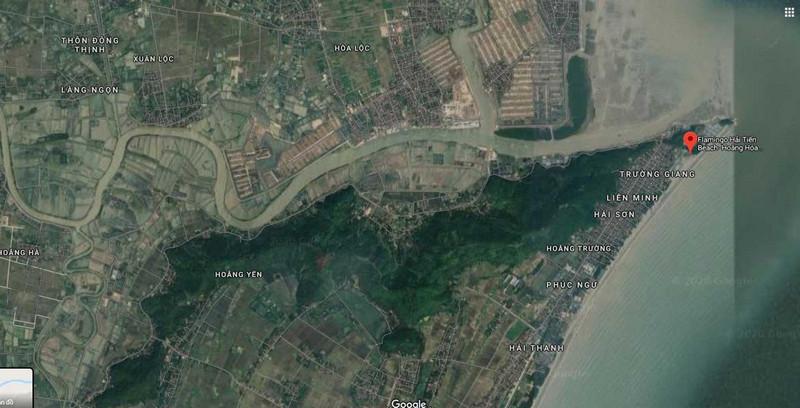 Vị trí dự án Flamingo Beach & Resort trên bản đồ Google vệ tinh