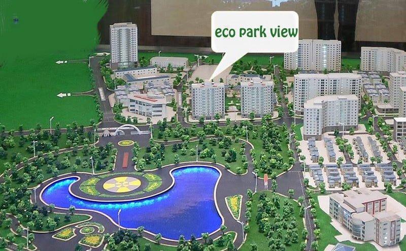 Vị trí dự án Eco Park View trong quần thể khu đô thị Dịch Vọng