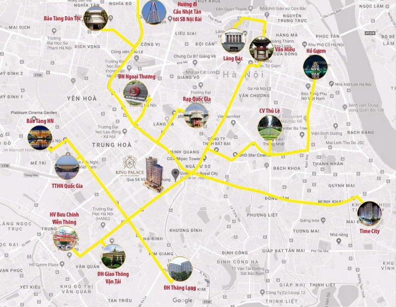 Liên kết vùng thuận tiện cho phép kết nối tới nhiều vị trí trong thành phố