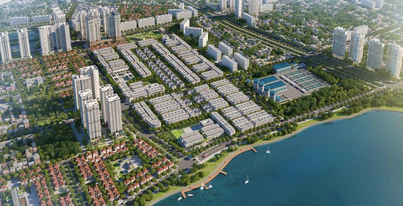 Phối cảnh dự án Louis City Hoàng Mai