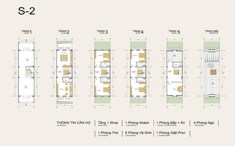 Thiết kế shophouse Louis City Hoàng Mai