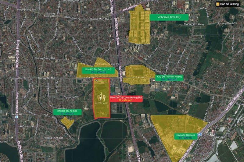 Vị trí đắc địa của dự án Louis City Hoàng Mai