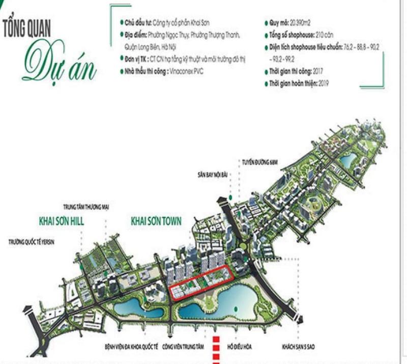 Phân khu Khai Sơn Town trong quần thể khu đô thị Khai Sơn