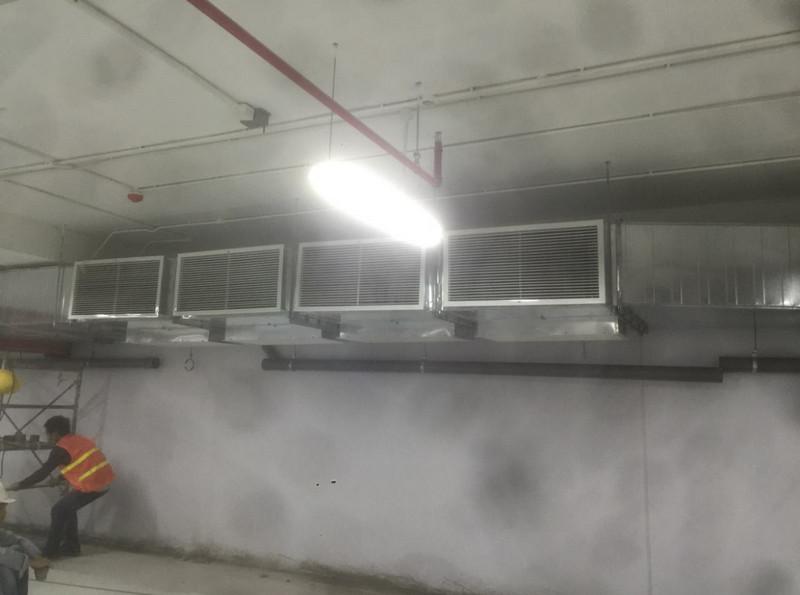 Hệ thống ống gió cung cấp không khí tươi cho khu tầng hầm tại PCC1 Mỹ Đình Plaza 2