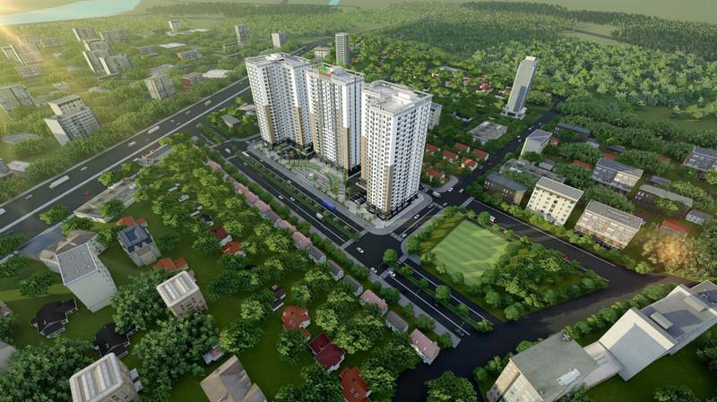 Phối cảnh dự án chung cư Xuân Mai Tower Thanh Hóa