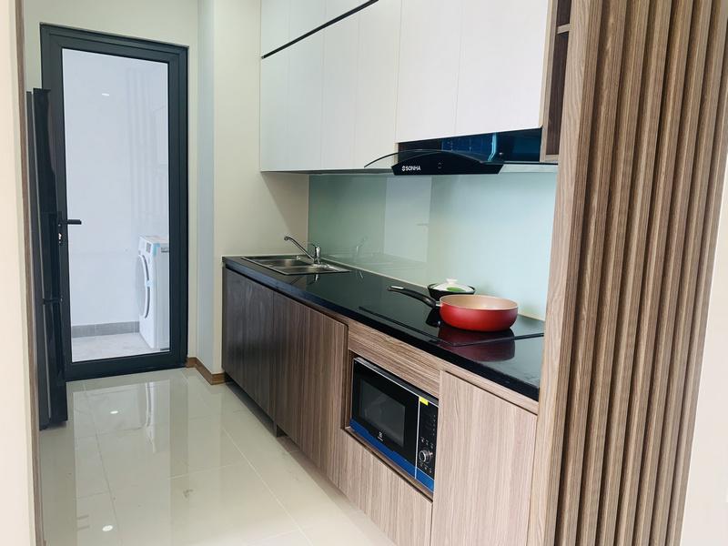 Khu bếp căn hộ mẫu thiết kế 2PN