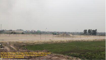 Dự án đất nền thôn Mẫn Xá, xã Long Châu, huyện Yên Phong mặt đường ql18 đối diện kcn Yên Phong Samsung