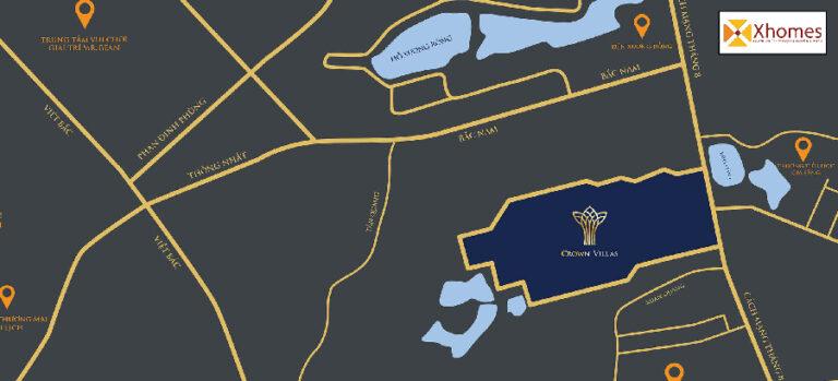 Vị trí dự án Crown Villas Thái Nguyên