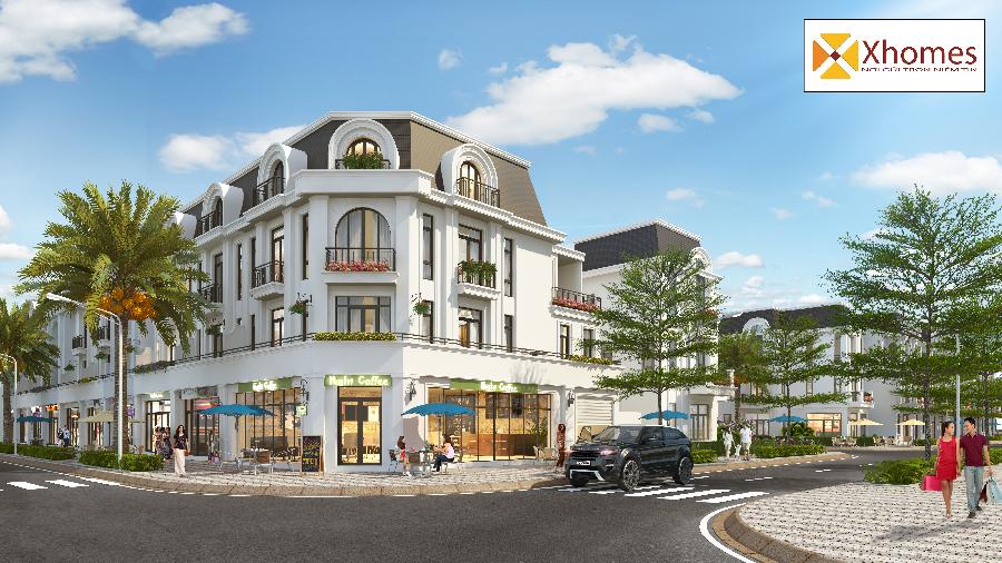 Phối cảnh sản phẩm Shophouse Crown Villas tại Thái Nguyên