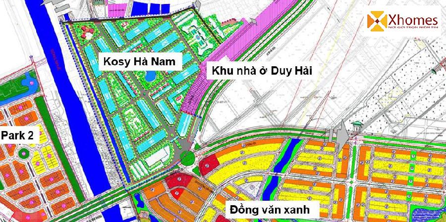 Vị trí tọa độ của dự án Kosy Hà Nam