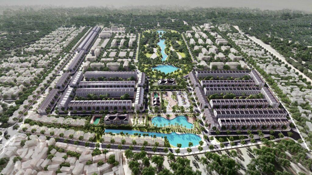Hình ảnh phối cảnh tổng thể dự án Yên Phong, Bắc Ninh
