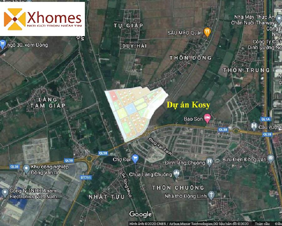 Vị trí dự án Kosy Hà Nam